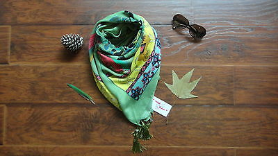 New Women Green and Yellow Shawl Wrap Scarf