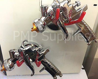 Iwata Chrome Flash Elite Limited Edition Spray Gun 1.3mm and 1.4mm TWIN PACK