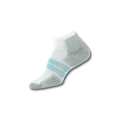 Thorlos Womens 84N Thick Padded Running No Show - Low Cut Socks ,White/Pale