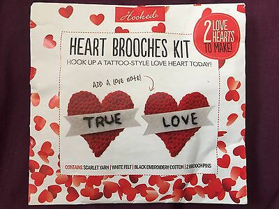 Heart Brooches Kit Make 2 Love Hearts - Don't Have Instruction