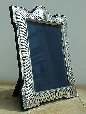 """A Ornate Hallmarked Solid Silver Photo Picture Frame Sheffield 1995 7.5"""" X 5.75"""""""