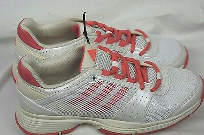 adidas barricade Team 3 white pink Size 6 BNWOB new tennis shoes