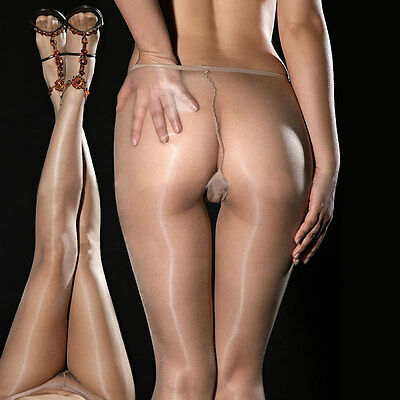 Women Fashion Sexy Sheer Oil Shiny Glossy Classic Pantyhose Tights Stockings