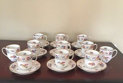 "Tirschenreuth ""Dresden"" 20 Piece Demitasse Set. Excellent Condition"