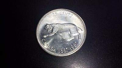 1967 Canada 25 Cents Silver Coin