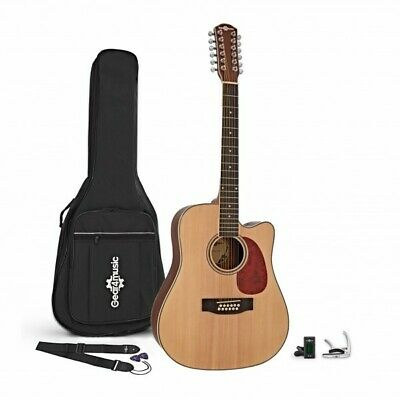 Dreadnought 12 String Acoustic Guitar Natural + Accessory Pack
