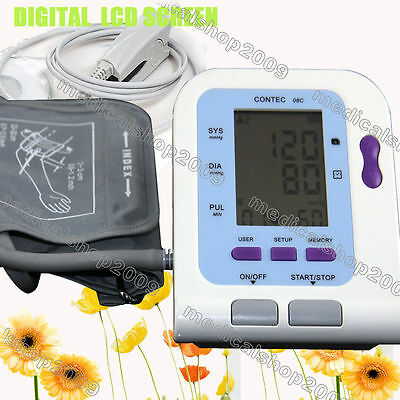 Digital Blood Pressure Monitor, Heart Beat Monitor Spo2 Probe PC Software CONTEC