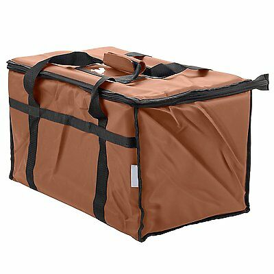 Insulated Food Delivery Bag Pan Carrier Brown