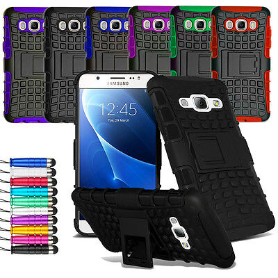 For Samsung Galaxy J5 2016 Heavy Duty Shock Proof Hard Case Cover + Film + Pen