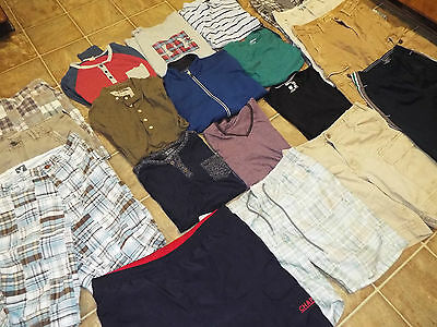 21 pieces Mens size Medium 32 33 Shorts tops lot American Eagle Old Navy