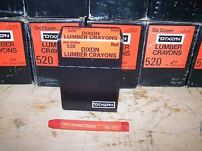 6 Dozen / 72 Pieces Dixon 520 Paper Covered Red Lumber Crayons 52000