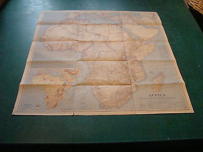 """Original NATIONAL GEOGRAPHIC MAP: 1943 AFRICA 29 x 31"""""""