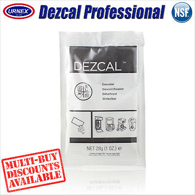 Urnex DEZCAL Espresso Coffee Machine Activated Descaler 28g Descaling Powder