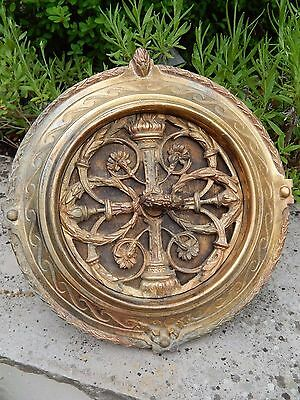 Reclaimed ornate antique French internal wall air Vent / heating Grill