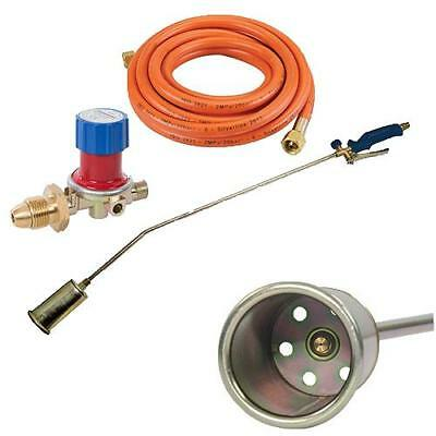 Roofing Long Arm Propane Gas Torch Kit Roofing Weed Inc Hose + Regulator 1000mm