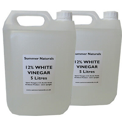 White Vinegar 12% - 2 x 5 litres for Natural Weed Killing, Cleaning, Pickling!