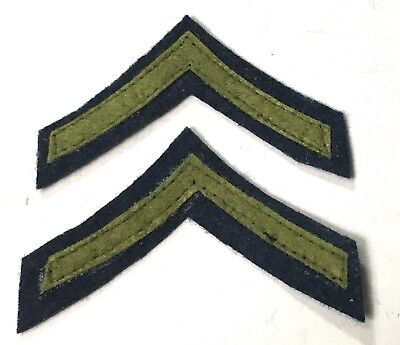 Wwii Us Private Pfc Jacket Rank Chevrons