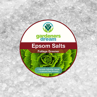 GardenersDream - EPSOM SALTS - FOLIAGE GREENER PLANT FOOD GARDEN FERTILISER