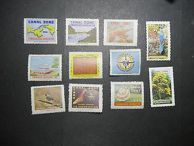 11  1960s Canal Zone Christmas Seals MNH