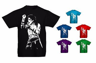 Kids Childrens Michael Jackson King Of Pop Iconic T-shirt Sizes Age 5 to 13