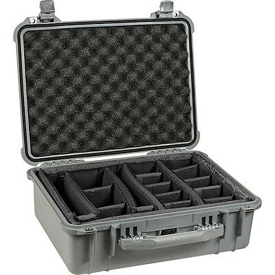 Pelican 1550 Camera Case Foam Insert Dividers Black Waterproof Sealed New