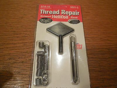 NEW HeliCoil Thread Repair Kit 5/16-18 5521-5