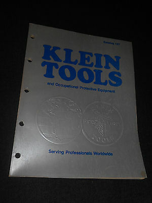 Vintage 1984 Klein Tools And Occupational Protective Equipment Catalog Book #127