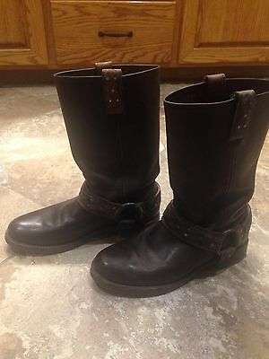 Women's Frye Veronica Brown Leather Harness Boots Size 10