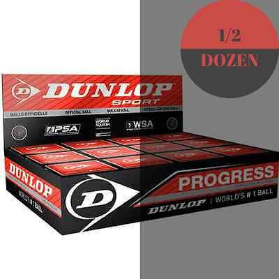 Dunlop Progress Squash Balls - 1/2 Dozen