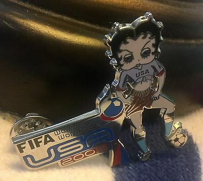 Betty Boop Lapel Pin   Women's Soccer 2003 FIFA World Cup