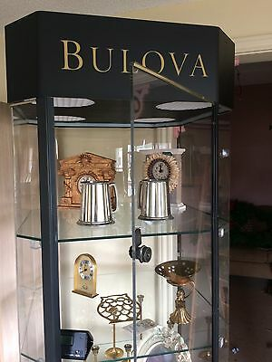 Retail Display Case LOT Glass Iris Arc Bulova Collectibles Locks Keys WOW