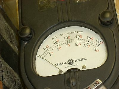 VINTAGE Made in USA A-C GE General Electric Volt Ammeter