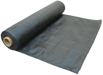 3 Metre Wide Weed Control Landscape Fabric Membrane Mulch Ground Cover, 100 GSM