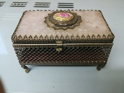 antique mother pearl box    fabulous. condition