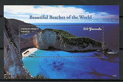 Grenada 2017 MNH Beautiful Beaches of World 1v S/S Tourism Landscapes Stamps