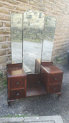 Vintage Retro Antique Dressing Table Vanity Unit Drawers Shabby Chic Project