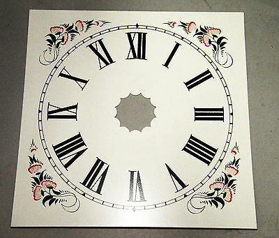 Faithfully Reproduced Painted Metal Dial for Larger OG, Ogee Weight Clock
