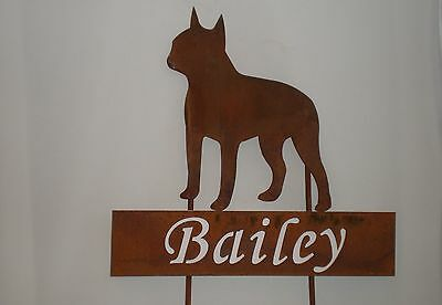 PET-MARKER-BOSTON TERRIER-with Name