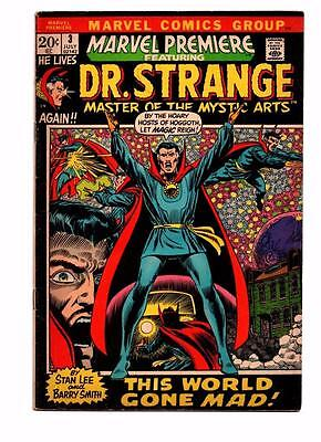 Marvel Premiere #3 (1972) featuring Doctor Strange Barry Smith art VG/FN