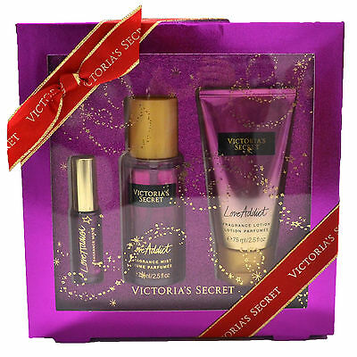 Victorias Secret LOVE ADDICT Lotion Fragrance Mist & Mini Mist SET