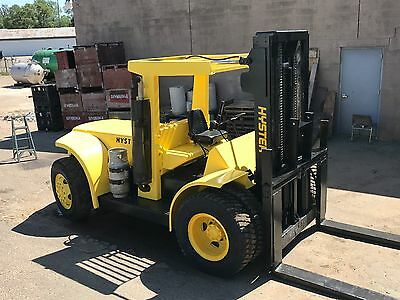 Hyster H-225E Forklift, 22,500 LB Capacity, Oil Clutch Machine, Refurbished.