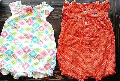 Carters and gymboree set of baby girl jumpers 18 months guc