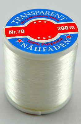 Sewing yarn Transparent bright - 200 m (€ 0,60/100 m)
