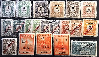 MACAO MACAU 20 stamps Portomarken Postage Due with ovp ÜD mixed condition