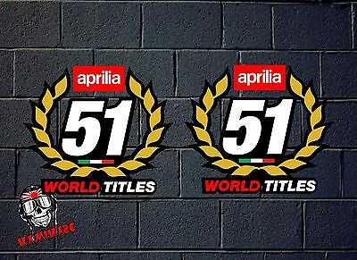 Pegatina Sticker Autocollant Adesivi Aufkleber Decal Aprilia 51 World Titles