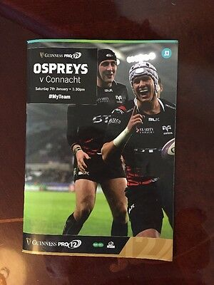 Ospreys v Connacht Guinness PRO12 Rugby Programme 2016 - 17