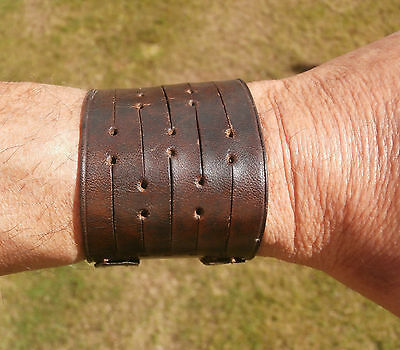 Vintage Leather Wrist Band, Twin Buckles, Nice Condition.  Pat.applied For.