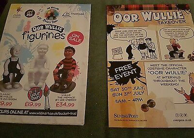OOR WULLIE'S BUCKET TRAIL MAP   + flyer of event DUNDEE - D.C. Thomson