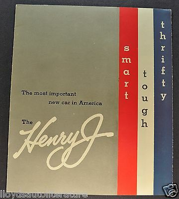 1951 Kaiser Henry J Sales Brochure Folder Excellent Original 51