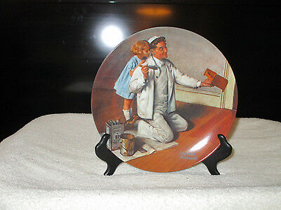 "Norman Rockwell Registered Collector Plate – ""The Painter"" Plate # 18866AD"